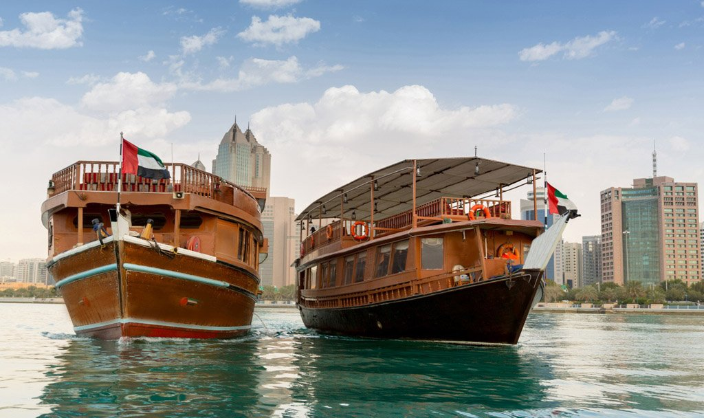 Dhow boats on cruise