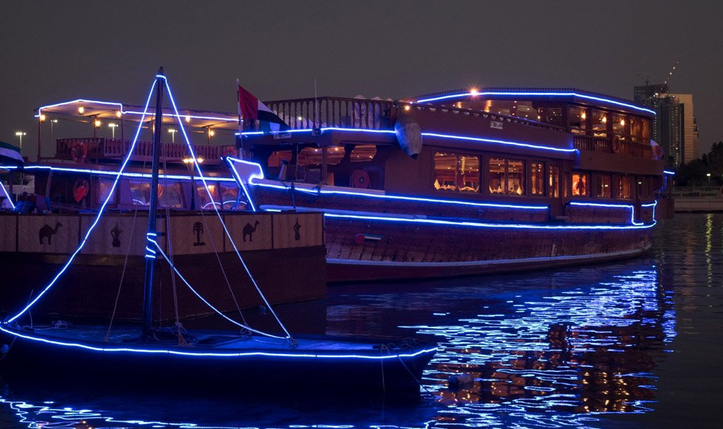 Dhow cruises at night